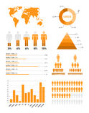 Elementi infographic arancioni Immagini Stock