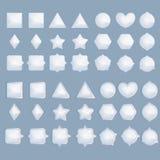Elementi infographic blu-chiaro stabiliti isolati su fondo blu Immagini Stock Libere da Diritti