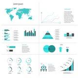 Elementi infographic dell'estratto moderno di vettore Fotografie Stock