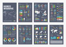 Elementi infographic dell'opuscolo A4 di vettore Fotografie Stock
