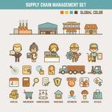 Elementi infographic della catena di fornitura Fotografia Stock