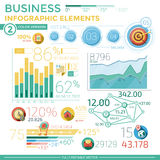 Elementi infographic di affari Fotografia Stock Libera da Diritti