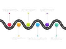 Elementi infographic di affari creativi illustrazione di stock
