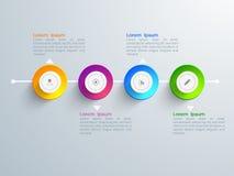 Elementi infographic di affari creativi illustrazione vettoriale