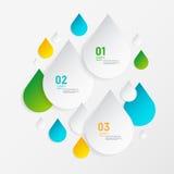 Elementi infographic di concetto astratto moderno di goccia Fotografia Stock