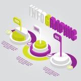 Elementi infographic di cronologia variopinta di vettore Immagini Stock Libere da Diritti