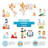 Elementi infographic di fatti medici di dati Fotografia Stock Libera da Diritti