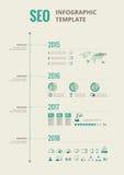 Elementi infographic di media sociali Fotografia Stock