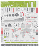 Elementi infographic di problemi ambientali di vettore Immagine Stock