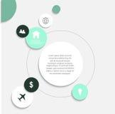 Elementi infographic di vettore moderno Fotografie Stock Libere da Diritti