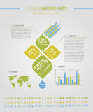 Elementi infographic ecologici Immagine Stock Libera da Diritti