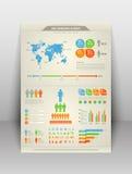 Elementi infographic moderni Fotografia Stock Libera da Diritti