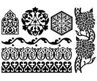 Elementi islamici di disegno illustrazione di stock