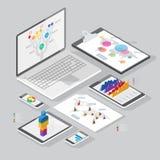 Elementi isometrici di progettazione di infographics illustrazione di stock