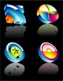 Elementi lucidi di disegno corporativo illustrazione vettoriale