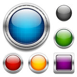 Elementi lucidi di progettazione dei bottoni Immagini Stock Libere da Diritti