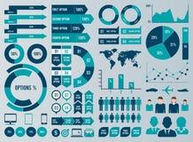Elementi mega di Infographic dell'insieme e del pacchetto Fotografie Stock