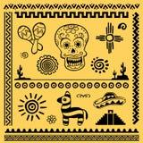 Elementi messicani di disegno Fotografie Stock