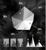 Elementi moderni dei grafici di informazioni Fotografia Stock Libera da Diritti