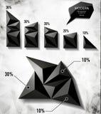 Elementi moderni dei grafici di informazioni Fotografia Stock