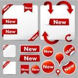 Elementi moderni di disegno di Web illustrazione di stock