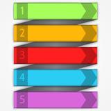 Elementi moderni di infographics della freccia di vettore Fotografie Stock