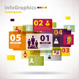 Elementi moderni di vettore per il infographics con la nuvola Fotografie Stock