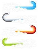Elementi nuvolosi dell'onda della spruzzata