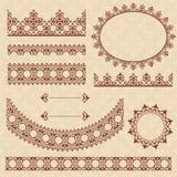 Elementi ornamentali arabi di Brown - insieme Royalty Illustrazione gratis