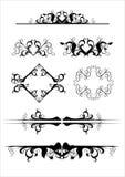 Elementi ornamentali di disegno Fotografia Stock