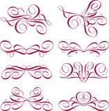 Elementi ornamentali di disegno Immagini Stock Libere da Diritti