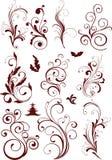 Elementi ornamentali di disegno Fotografie Stock