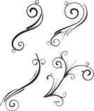 Elementi ornamentali di disegno Fotografia Stock Libera da Diritti