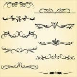 Elementi ornamentali di progettazione Immagini Stock