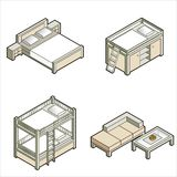 Elementi P. 16c di disegno illustrazione vettoriale