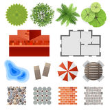 Elementi per architettura del pæsaggio Fotografie Stock Libere da Diritti