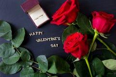 Elementi per il giorno del ` s del biglietto di S. Valentino della st Immagini Stock