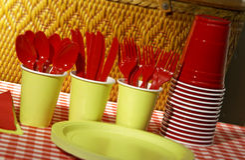 Elementi per il picnic Fotografia Stock