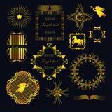 Elementi per la decorazione Fotografia Stock