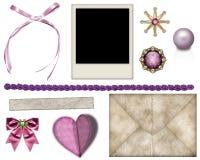 Elementi per la decorazione delle foto Immagini Stock