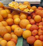 Elementi per mangiare gli aranci Fotografia Stock