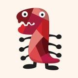 Elementi piani dell'icona del mostro bizzarro, eps10 illustrazione di stock