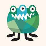 Elementi piani dell'icona del mostro bizzarro, eps10 Fotografie Stock Libere da Diritti