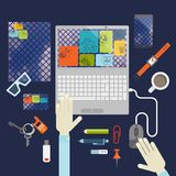 Elementi piani di progettazione Fotografia Stock