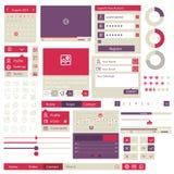 Elementi piani di progettazione dell'interfaccia utente Fotografia Stock