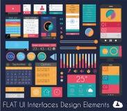 Elementi piani di progettazione di UI per il web, Infographics Fotografie Stock Libere da Diritti
