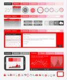 Elementi piani di progettazione di UI per il web, Infographics Immagini Stock