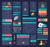 Elementi piani di progettazione di UI per il web, Infographics, Immagini Stock