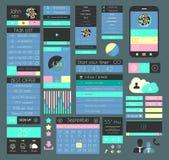 Elementi piani di progettazione di UI per il web, Infographics, Fotografie Stock
