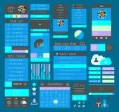 Elementi piani di progettazione di UI per il web, Infographics, Fotografie Stock Libere da Diritti